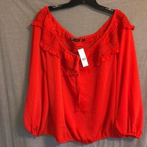 NWT! 7th ave New York & Compant red top! XL!